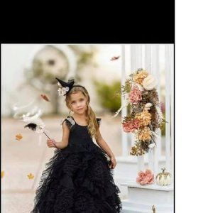 Dollcake Best Wishes Luxe Frock Dress Black